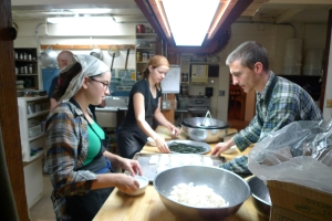 Making sushi, vegan style, at Green Gulch in June 2009