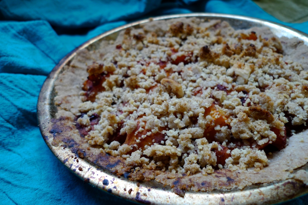 Apricot Plum Vegan Pie: Gluten Free and Legume Free