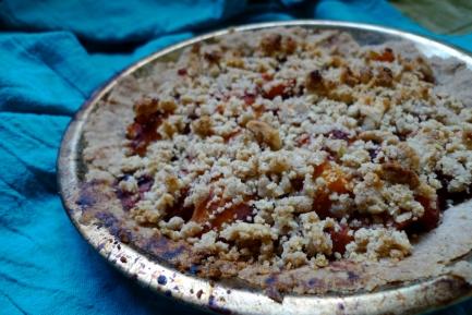Apricot Plum Vegan Pie: Gluten Free and Legume Free