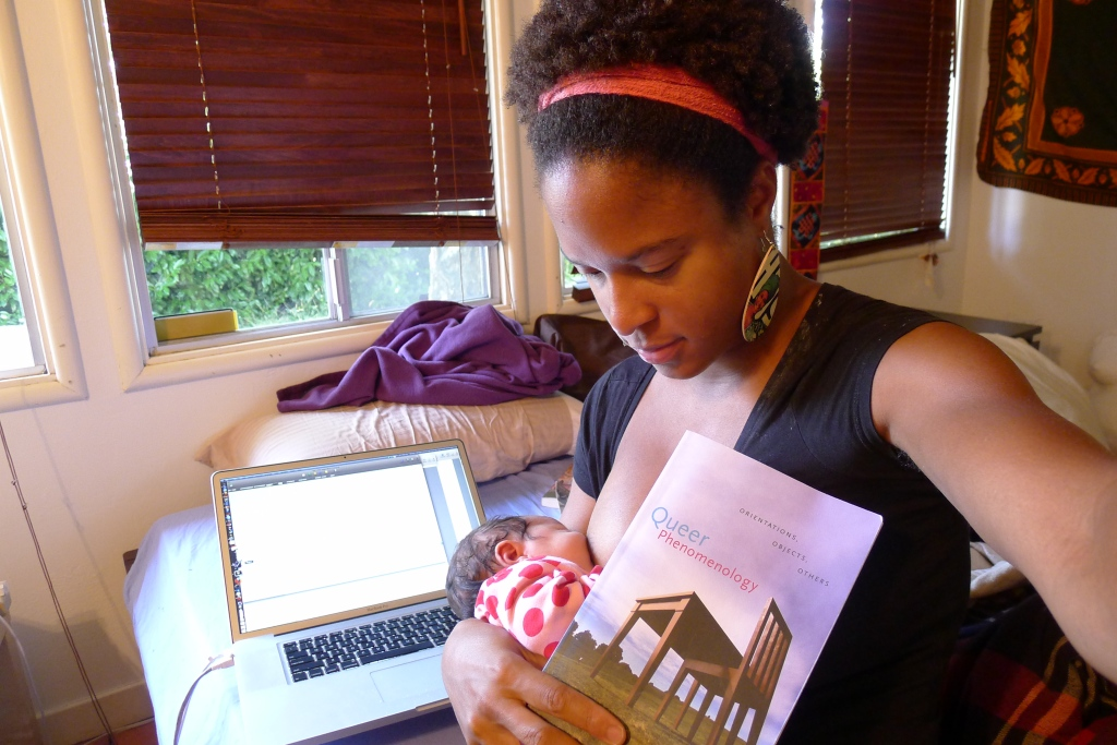 Working against time: Nursing while dissertating about whiteness and veganism