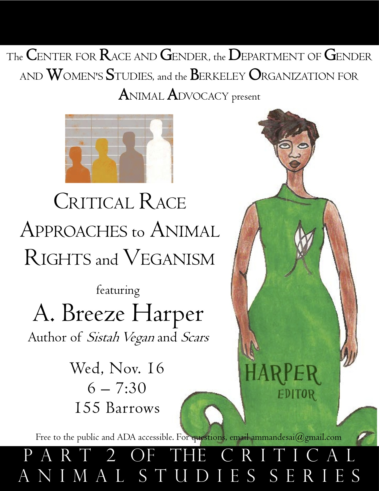 Breeze Harper to speak at UC Berkeley, November 16, 2011 for Critical Animal Studies Series