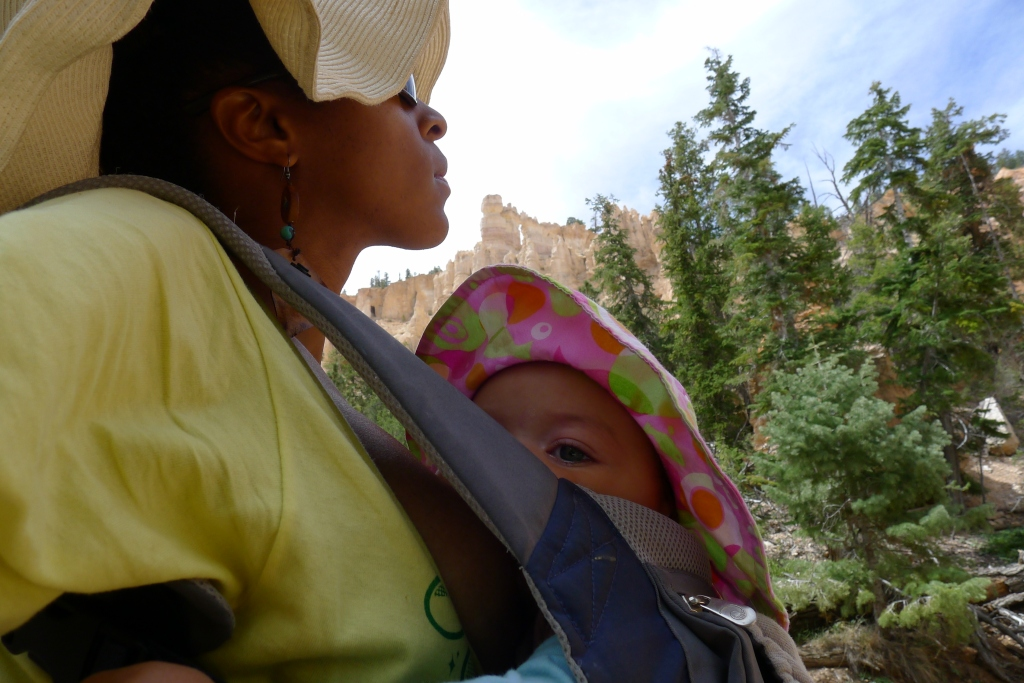 Black and Nursing While Hiking in Utah's National Parks
