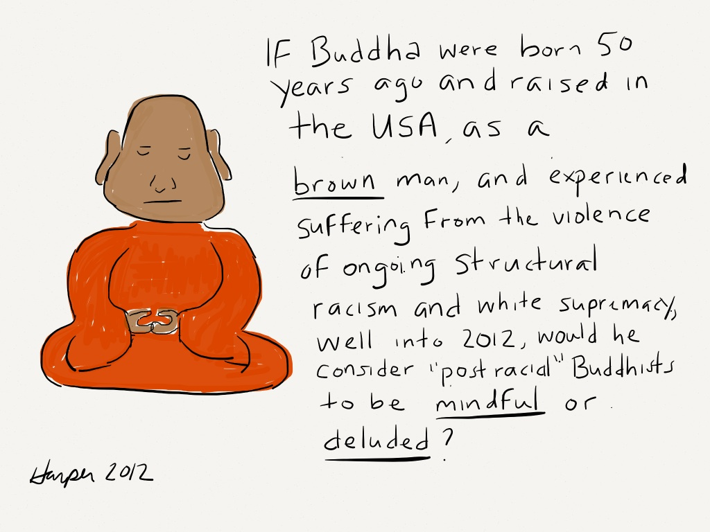 Mindful or deluded?: Reflections on being a 'racist' anti-racist student of Buddhism who is seeking wellness.